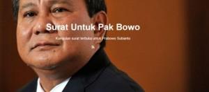 (Bukan) Surat Terbuka Untuk Prabowo